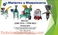 MOLINOS DE NIXTAMAL Y MAQUINARIA AGRICOLA Y GANADERIA, MOTORES Y MAQUINARIA