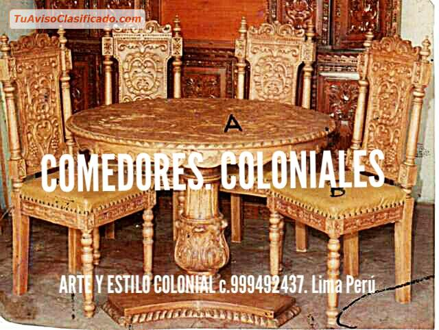 Tallador dise ador fabricante muebles coloniales peruanos arte y - Fabricante muebles ...