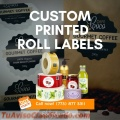 Roll label printing price