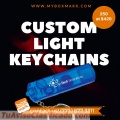 Flashlight keychain with logo  | Phone: (773) 877-3311