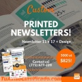 Custom printed newsletters