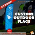 Promotional outdoor flags