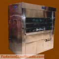 Ecological dual oven for grilled chicken in stainless steel.