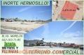 SE VENDE TERRENO COMERCIAL DE 2500 Y 5000 MTS.  AL NORTE DE HERMOSILLO SONORA MEXICO