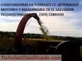 COSECHADORAS DE FORRAJES  CF-20  PENAGOS EL SALVADOR
